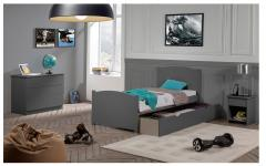 Lit enfant 70x140 CARLINE Gris