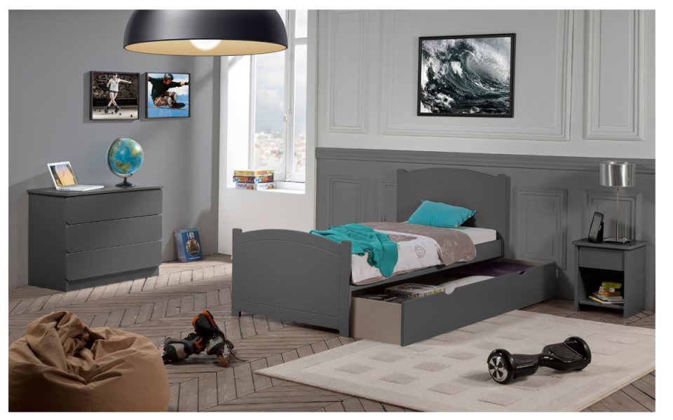 chambre b b grise mobilier gris chambre enfant. Black Bedroom Furniture Sets. Home Design Ideas