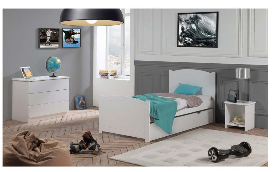 sommier enfant 90x190 lattes. Black Bedroom Furniture Sets. Home Design Ideas