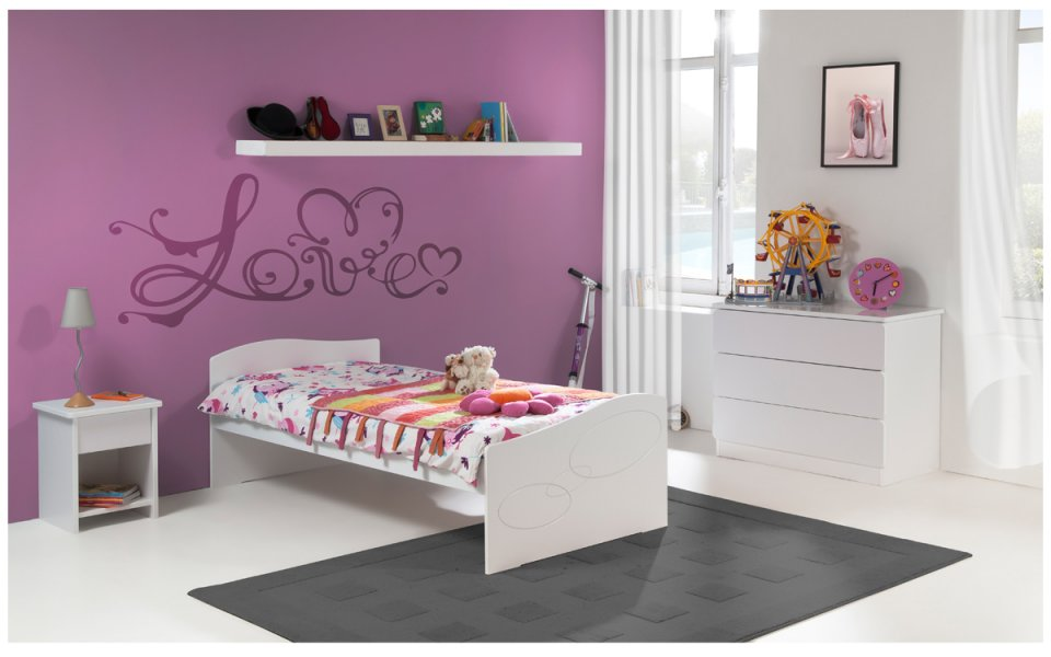 lit enfant blanc avec tiroir. Black Bedroom Furniture Sets. Home Design Ideas