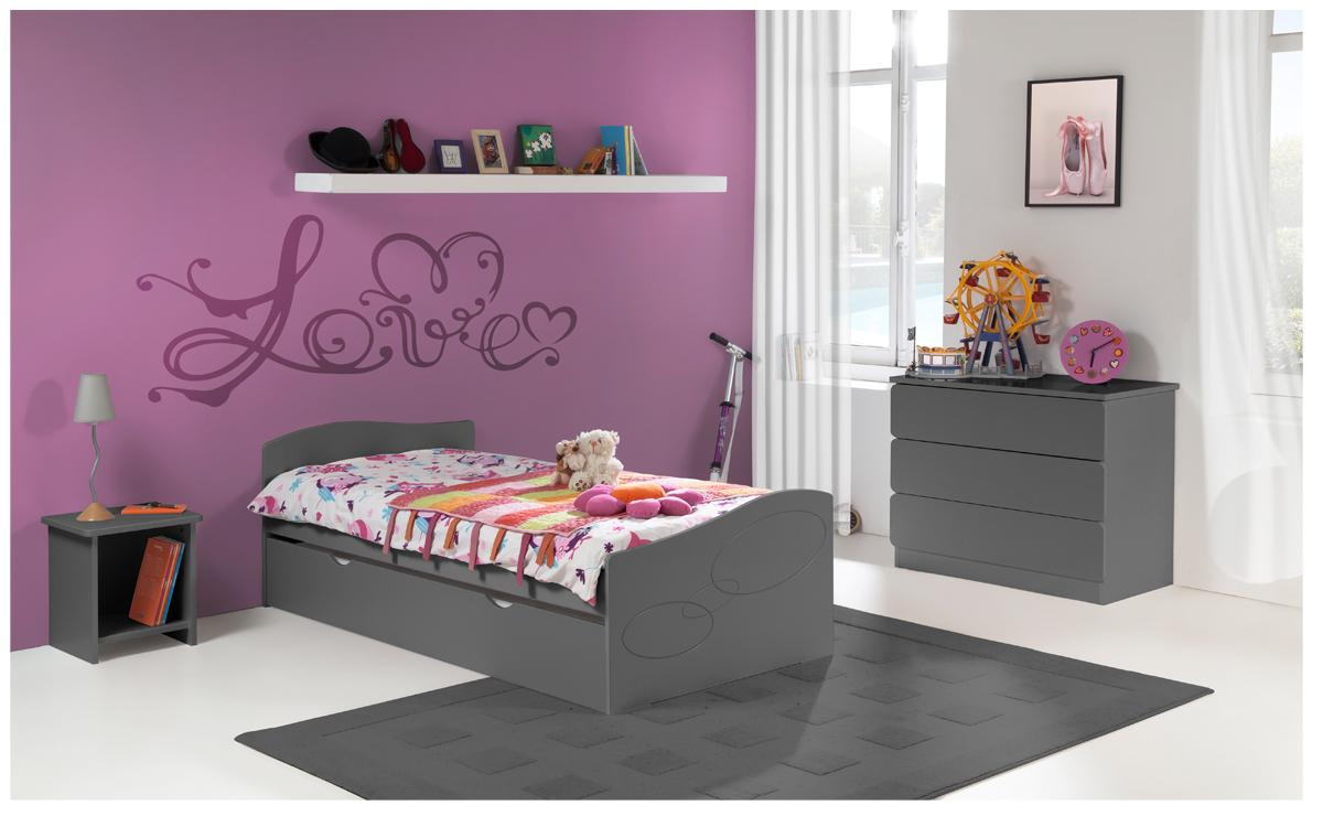pack 4 pi ces lit enfant ado avec tiroir rangement moscou. Black Bedroom Furniture Sets. Home Design Ideas