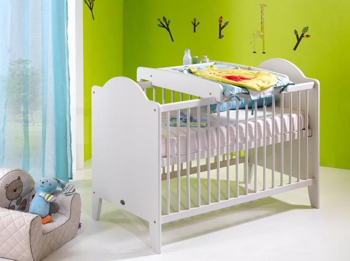 lit b b 60x120 carline blanc. Black Bedroom Furniture Sets. Home Design Ideas