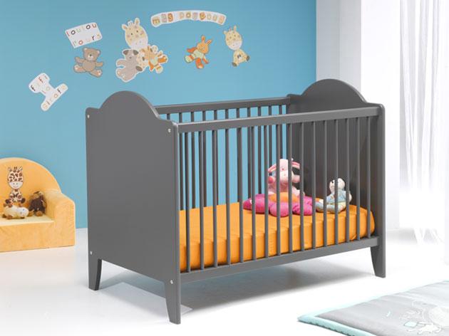 Lit bébé 60x120 CARLINE gris