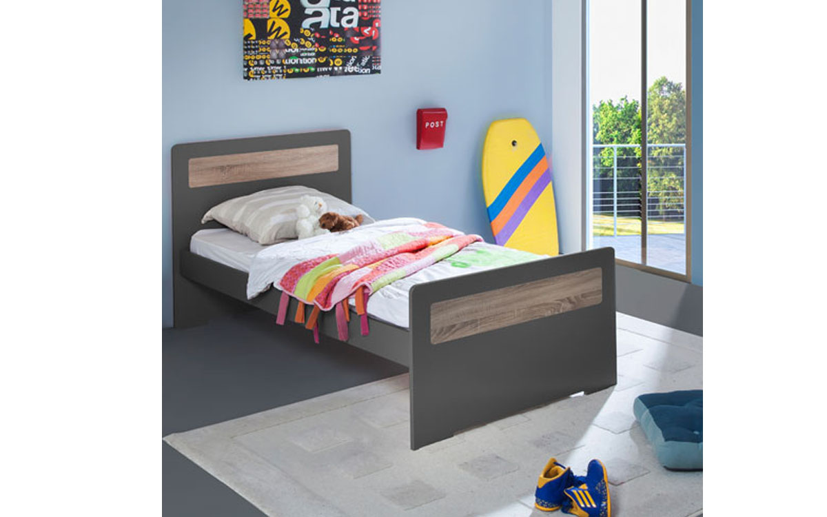 Lit Enfant Ado New Delhi 90x190 Couleur Carbone