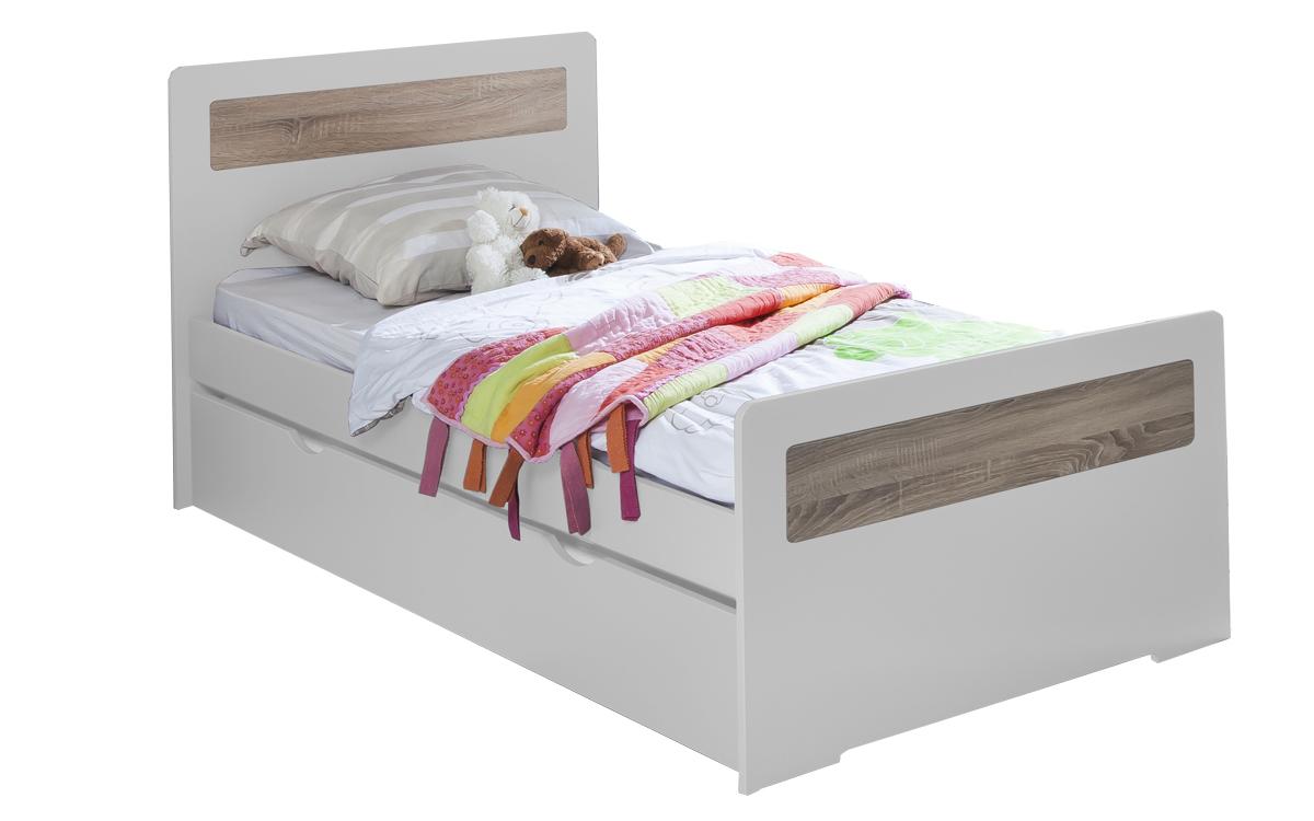 lit gigogne new delhi 90x190 couleur blanc. Black Bedroom Furniture Sets. Home Design Ideas