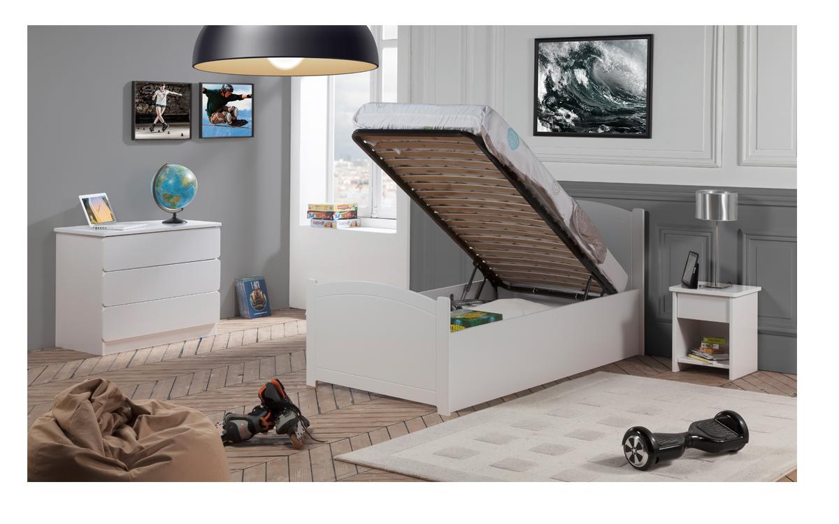 Chambre complète |Lit rangement fille| Mobilier blanc