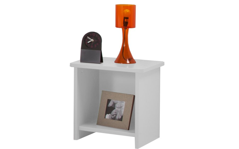 Image Table Chevet Niche  Couleur Blanc