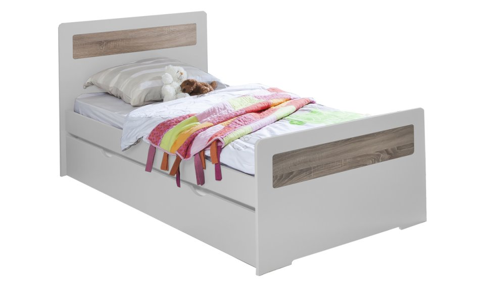 lit enfant ado avec tiroir rangement new delhi 90x190 couleur blanc. Black Bedroom Furniture Sets. Home Design Ideas