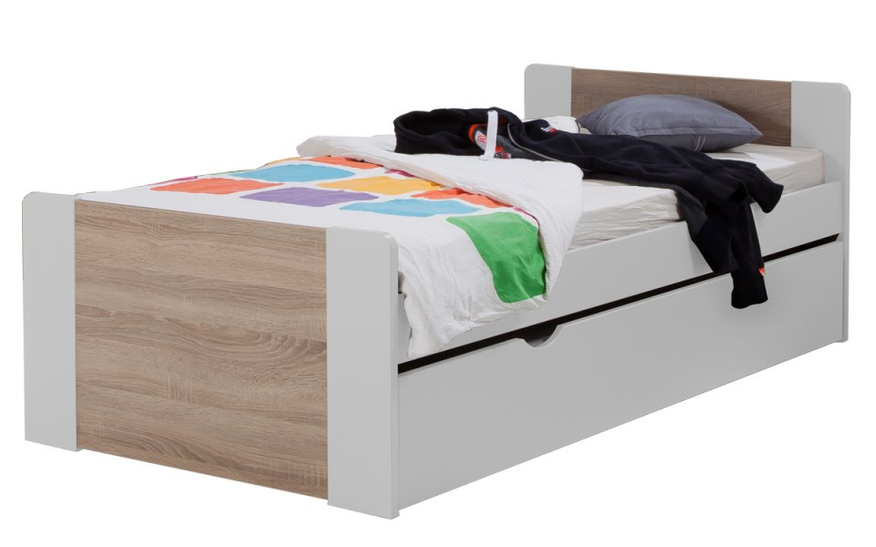 lit enfant ado avec tiroir rangement montr al 90x190 couleur blanc. Black Bedroom Furniture Sets. Home Design Ideas