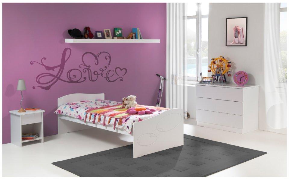 lit enfant 90x190 blanc luen avec tiroir de rangement. Black Bedroom Furniture Sets. Home Design Ideas