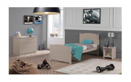 Chambre complète Florence avec lit simple 90x190 pour enfant/ado
