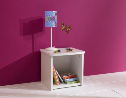 Image Table de chevet enfant Blanche